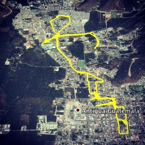 Map of Lent Sunday Processions: 3rd Jocotenango by Nelo Mijangos