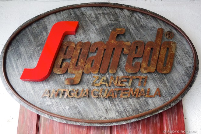 Rudy Giron: AntiguaDailyPhoto.com &emdash; Segafredo Sign in Antigua Guatemala
