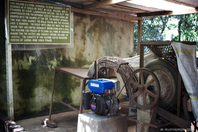 Rudy Giron: AntiguaDailyPhoto.com &emdash; This is the fastest macadamia husking machine