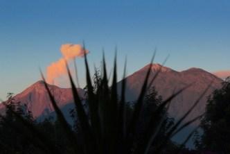 Sunday's morning activity for Fuego Volcano in Guatemala