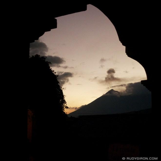 Rudy Giron: AntiguaDailyPhoto.com &emdash; Framed Fuego Volcano