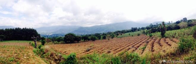 Rudy Giron: AntiguaDailyPhoto.com &emdash; Panoramic Vista of Corn Fields Around Antigua Guatemala