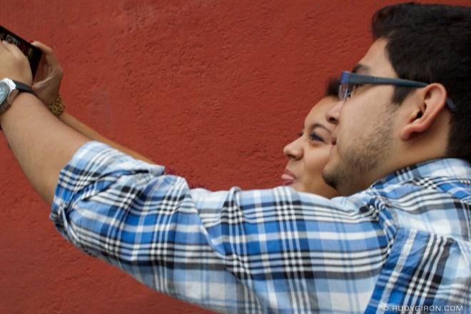 Rudy Giron: Antigua Guatemala &emdash; Taking Selfies at Calle del Arco