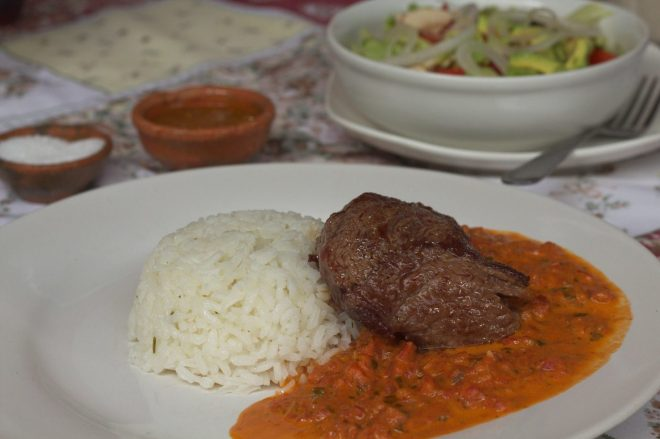 """""""Lomito"""" with Chiltepe Sauce by Elí Orozco"""
