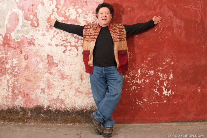 Portrait of Guatemalan Filmmaker Luis Argueta by photographer Rudy Giron