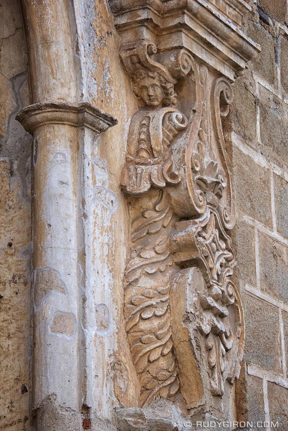 Rudy Giron: Mermaids &emdash; Mermaid at the façade of Santa Clara Ruins