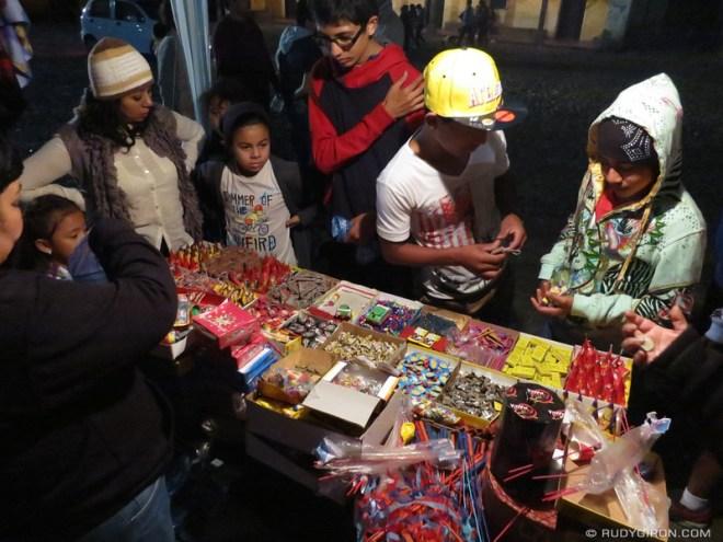 Rudy Giron: Antigua Guatemala &emdash; Typical Firecrackers and Fireworks Stand