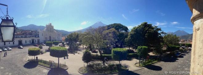 Rudy Giron: Antigua Guatemala &emdash; Panoramic Vista of Antigua Guatemala's Main Square