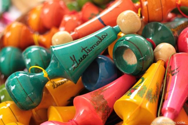 Rudy Giron: Antigua Guatemala &emdash; Colorful Guatemalan Capirucho Toys