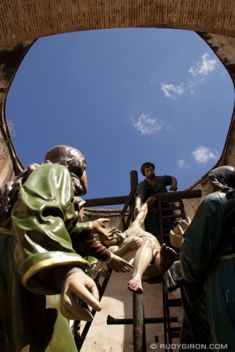 Holy Week Processional Figures Undergoing Repairs by Rudy Giron