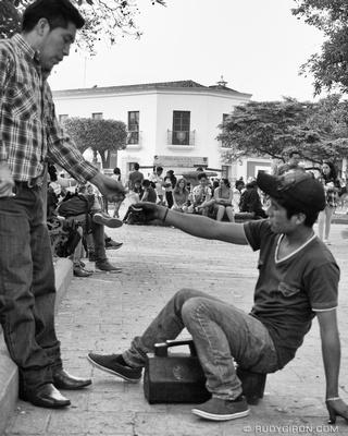 Rudy Giron: Antigua Guatemala &emdash; The Shoe-shine Transaction