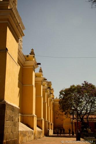 Sunshine, Jacarandas and Chamuscas At La Merced Church by Rudy Giron