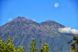 © Twin Peaks and The Moon, Antigua Guatemala by Rudy Giron