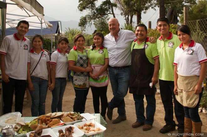 Rudy Giron: Antigua Guatemala &emdash; Andrew Zimmern at Chicharrones y Carnitas Erick, Antigua Guatemala