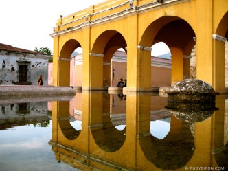 © Arches reflected at Tanque de la Unión by Rudy Giron
