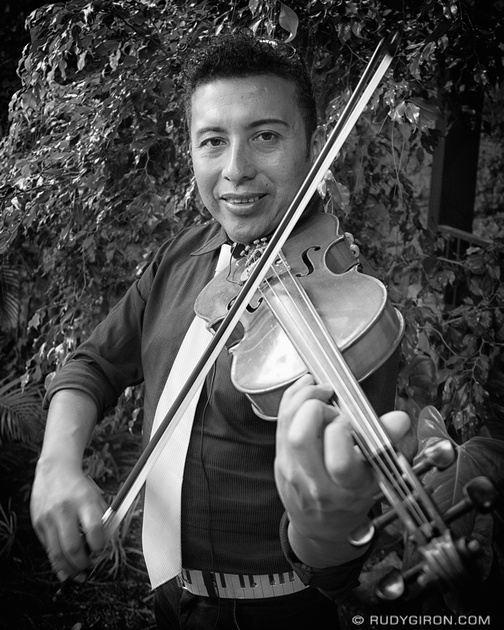 Rudy Giron: Antigua Guatemala &emdash; Portraits of Strangers: The violin player