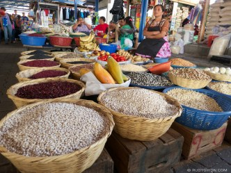 © Guatemalan Beans and Maize Stand at the Mercado, Antigua Guatemala by Rudy Giron