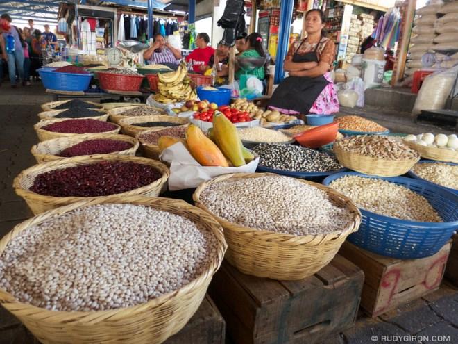 Rudy Giron: Antigua Guatemala &emdash; Guatemalan Beans and Maize Stand at the mercado central