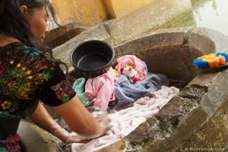 © Doing Laundry by Hand in Antigua Guatemala by Rudy Giron