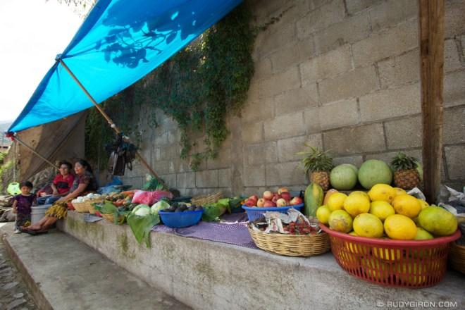 Rudy Giron: Antigua Guatemala &emdash; Fruit and Vegetable Stand in San Juan del Obispo