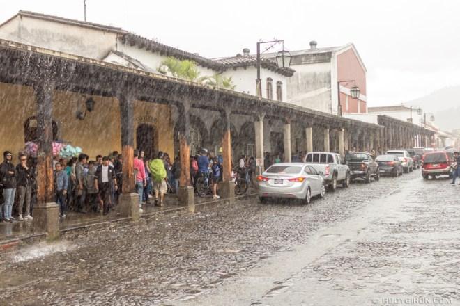 Rudy Giron: Antigua Guatemala &emdash; In Antigua Guatemala when it rains it pours