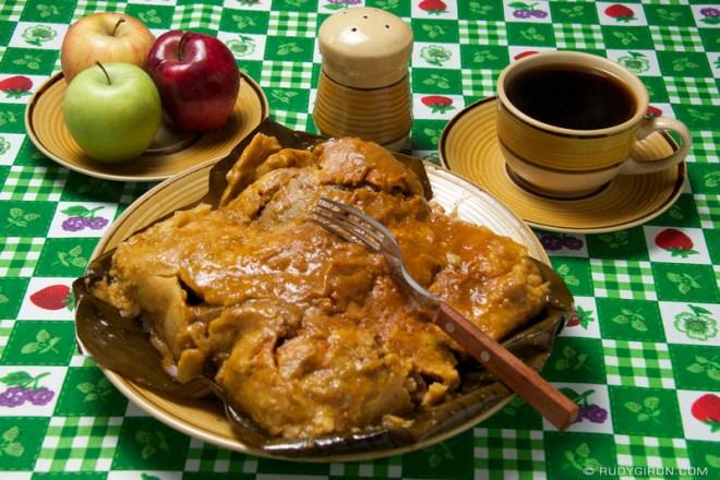 Rudy Giron: Guatemalan tamales &emdash; Unwrapped Giant Tamal from Guatemala