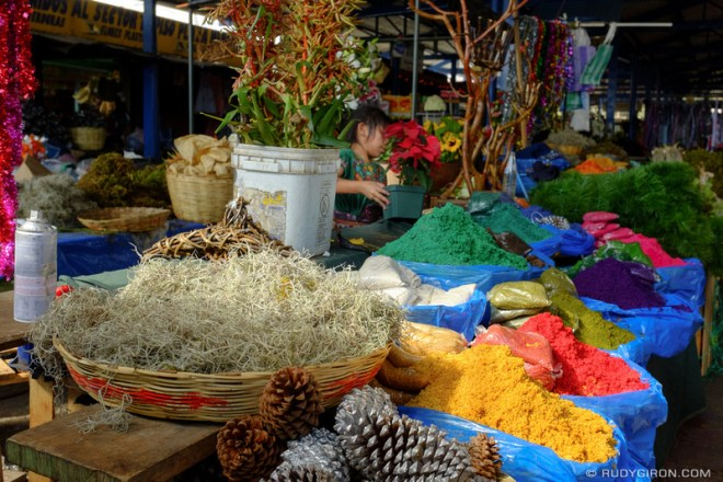 Rudy Giron: Antigua Guatemala &emdash; Guatemalan Christmas Decorations Market Stand