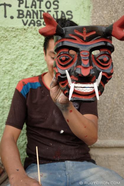 Rudy Giron: Antigua Guatemala &emdash; Devil Mask from Antigua Guatemala