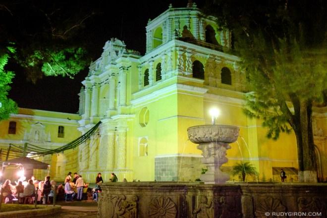 Rudy Giron: Antigua Guatemala &emdash; Vista from Iglesia de La Merced at Night
