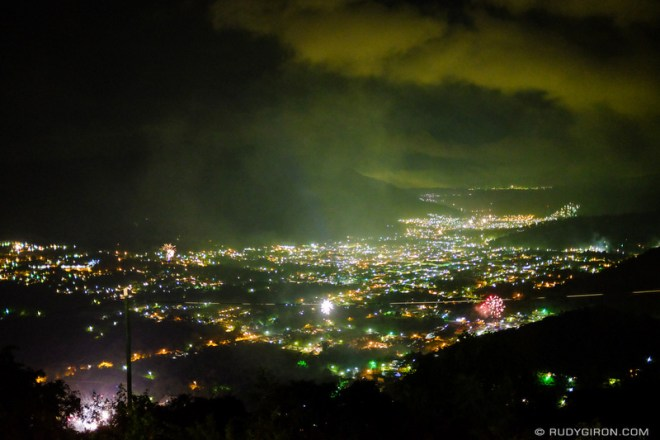 Rudy Giron: Antigua Guatemala &emdash; Fireworks in the Panchoy Valley for New Year's Eve 2015