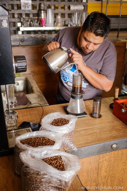 Rudy Giron: Antigua Guatemala &emdash; Cupping at Antigua Coffee Workshops_