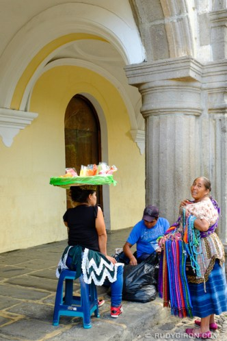 Gathering of Street Vendors in Antigua Guatemala by Rudy Giron