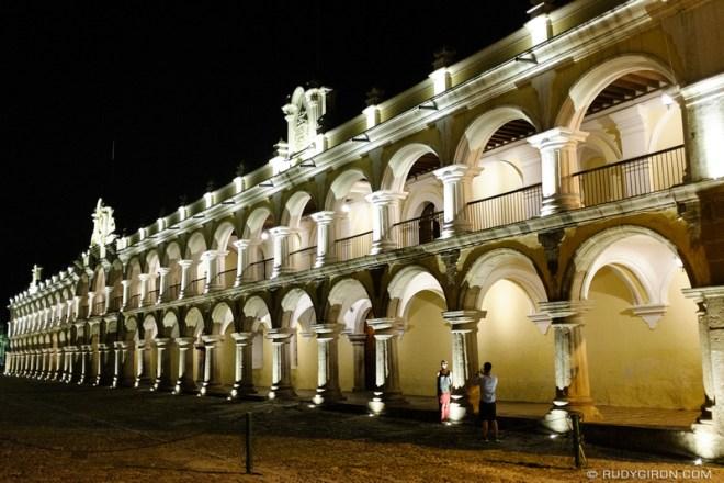 Rudy Giron: Antigua Guatemala &emdash; Spot lighting of ruins and monuments in Antigua Guatemala