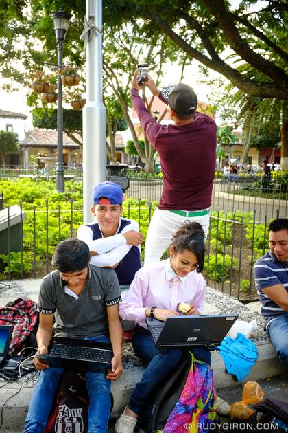 Rudy Giron: Antigua Guatemala &emdash; Hacking and Phraking at Parque Central, Antigua Guatemala