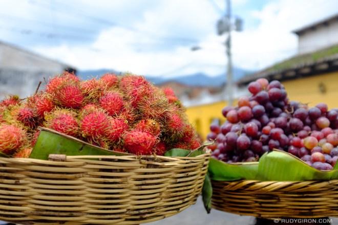 Rudy Giron: Antigua Guatemala &emdash; Ambulant Fruit Baskets in Antigua Guatemala