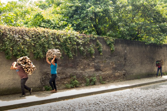 Rudy Giron: Antigua Guatemala &emdash; Everyday Guatemala — Carrying wood fuel home