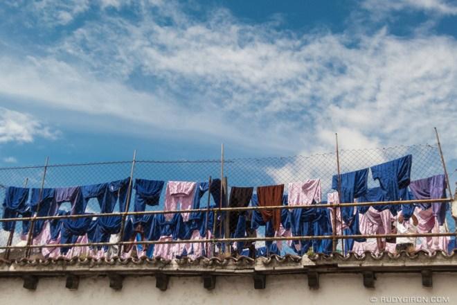 Rudy Giron: Antigua Guatemala &emdash; Laundry drying at Casa Presidencial, Antigua Guatemala