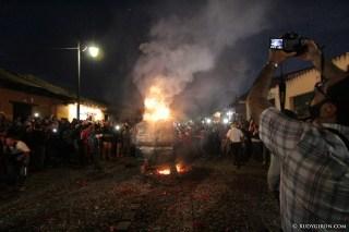 Burning of the Devil in Antigua Guatemala