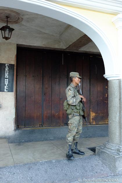 Rudy Giron: Antigua Guatemala &emdash; Guatemalan Army soldier patrolling the streets