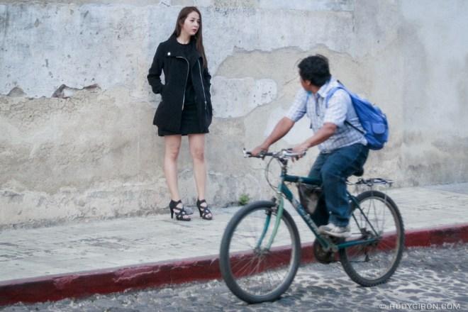Rudy Giron: Antigua Guatemala &emdash; Street Photography Indiscreet Window — Wow, you're a show stopper, señorita color