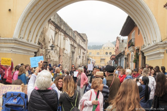 Rudy Giron: Antigua Guatemala &emdash; Women's March in Antigua Guatemala 4