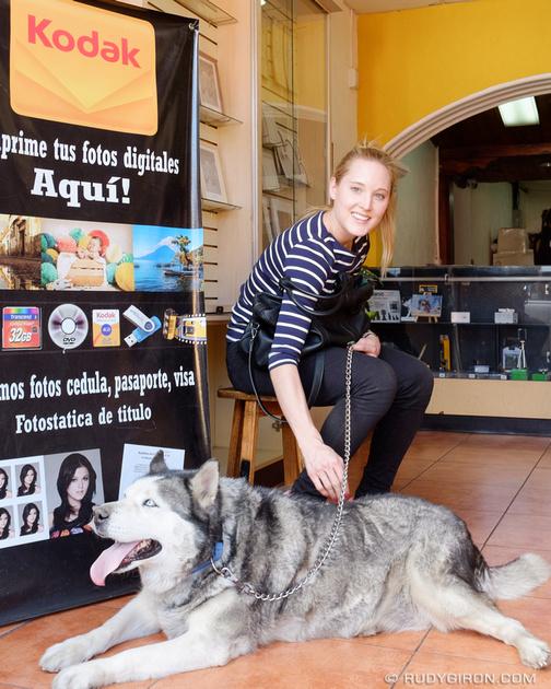 Rudy Giron: Antigua Guatemala &emdash; Street Portraits of Strangers — Fabi and rescued Muñeca from Xela