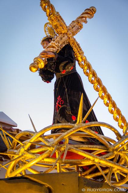 Rudy Giron: Antigua Guatemala &emdash; Close-up of Jesús Nazareno El Dulce Rabí Procession from Jocotenango