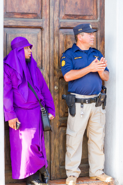 Rudy Giron: Antigua Guatemala &emdash; Lent Vistas — The Cucurucho and The Cop