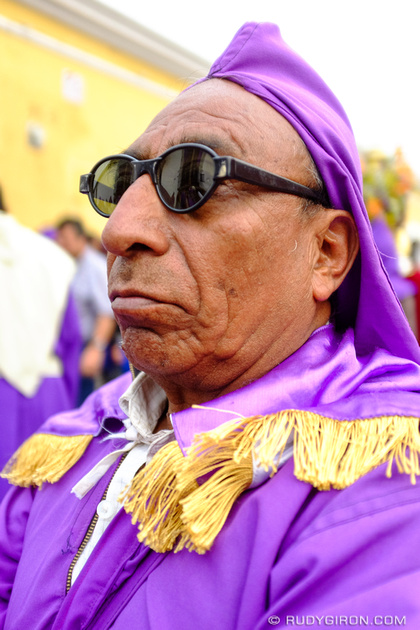 Rudy Giron: Antigua Guatemala &emdash; Street Portraits of Strangers — Cucurucho with shades