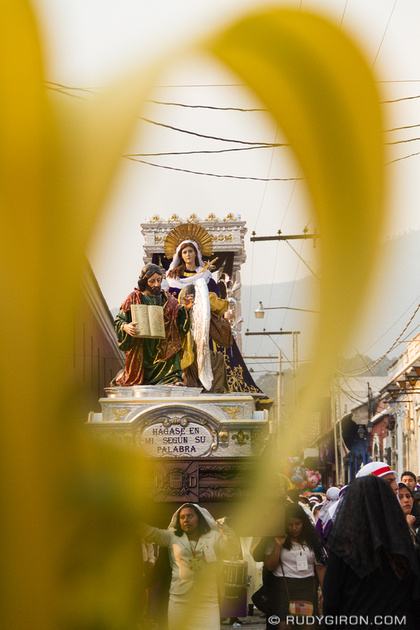Rudy Giron: Antigua Guatemala &emdash; Holy Week Vistas — Palm Sunday Virgin Mary Procession