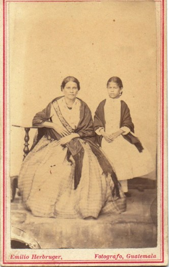1880s Antique Portrait of a Mother and Daughter