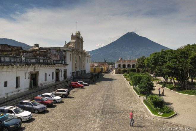 Rudy Giron: Antigua Guatemala &emdash; HDR South View of Antigua Guatemala from Palacio del Ayuntamiento