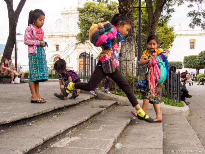 Rudy Giron: Antigua Guatemala &emdash; Maya girls jumping around