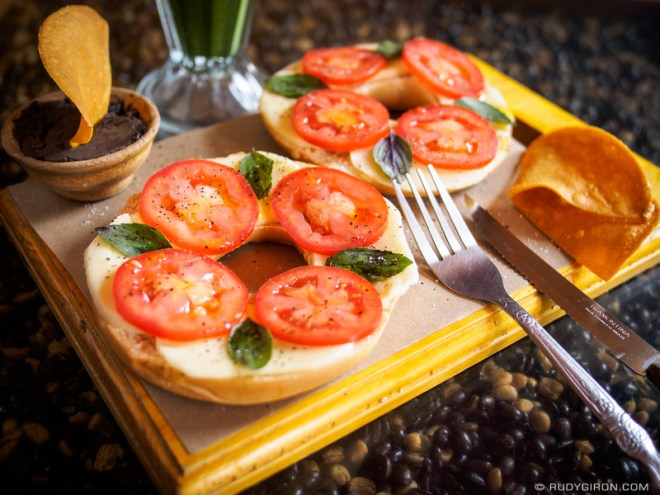 Rudy Giron: Antigua Guatemala &emdash; VIVA ITALIA bagel sandwich from Bagel Barn